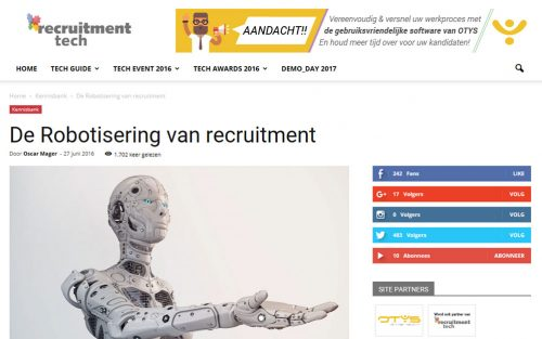 Screenshot Recruitmenttech.nl