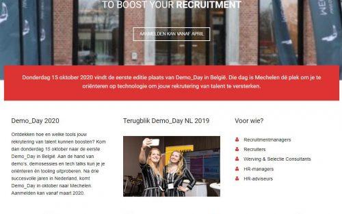 Homepage Demo_Day België